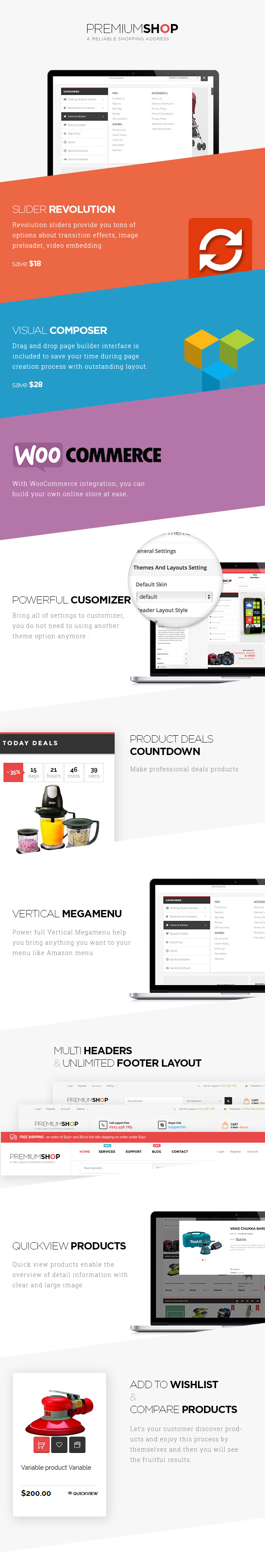 Woocommerce ecommerce theme wordpress