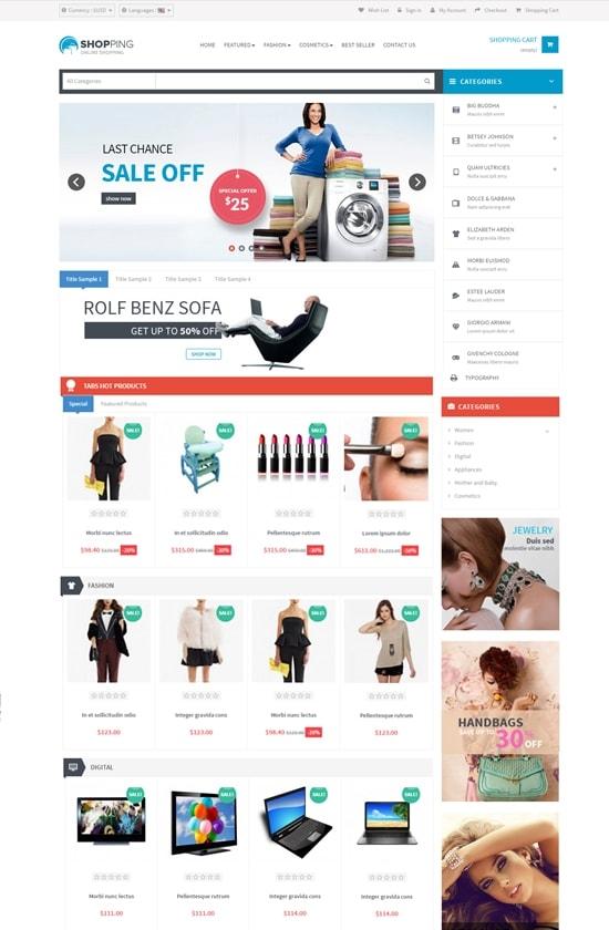 prestashop responsive ecommerce theme