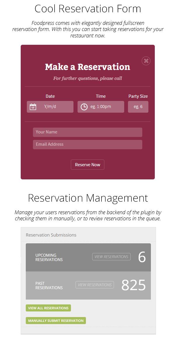 restaurant reservation plugin wordpress