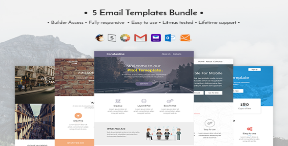 Profesionnel Email Templates Bundle Emailling Template Dci