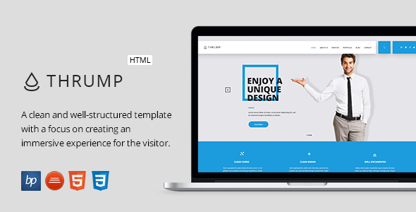 Thrump responsive business html5 template dci marketplace responsive business html5 template scripts and snippets for php javascript asp css plugins flashek Choice Image
